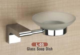 Glass Soap Dish L - 05
