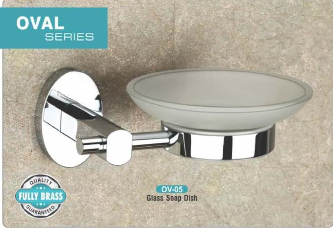 Glass Soap Dish OV - 05