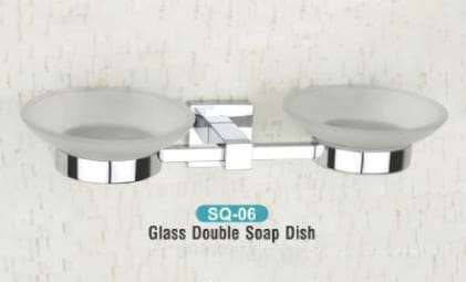 Glass Double Soap Dish SQ - 06