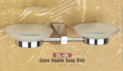 Glass Double Soap Dish DL - 06