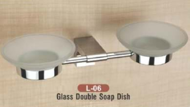 Glass Double Soap Dish L - 06