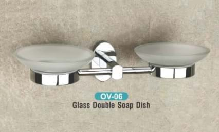 Glass Double Soap Dish OV - 06